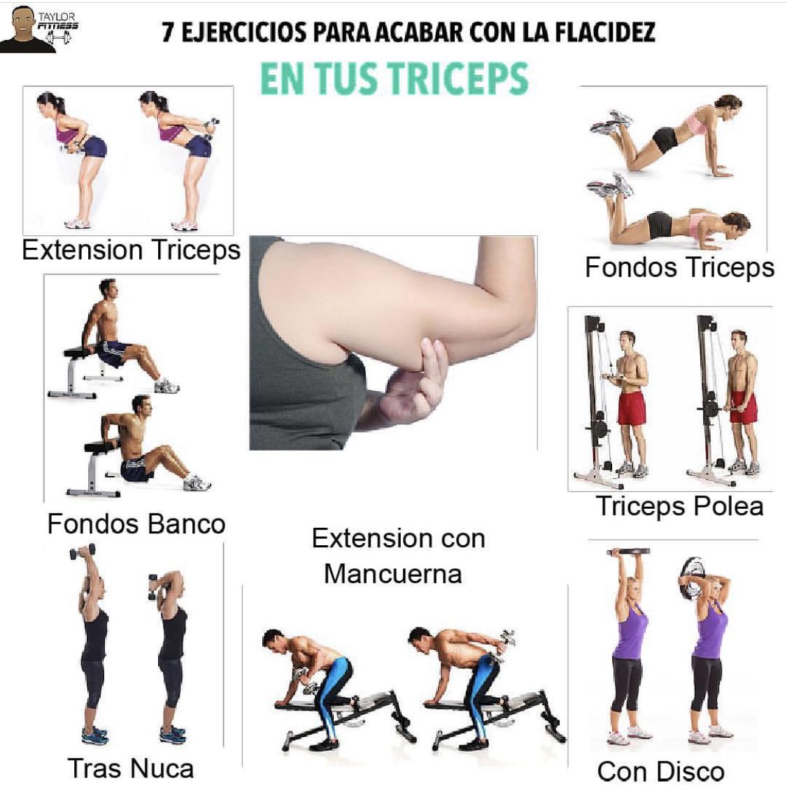 rutina de brazos para mujeres gym